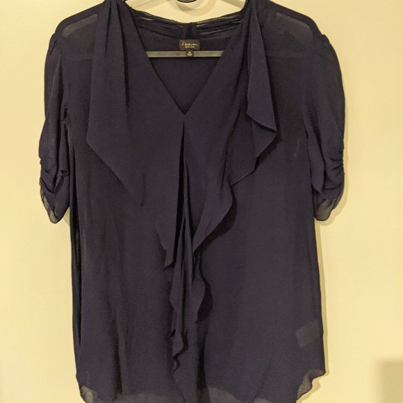 Babaton TINSLEY Silk Blouse - Deep Purple